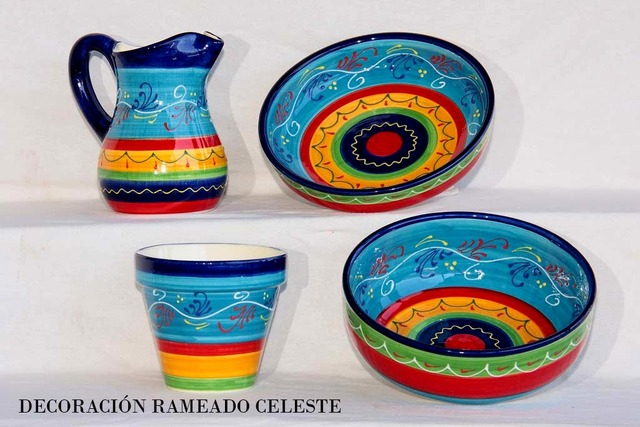 Cer mica padilla padilla productos de menaje decorados for Materiales para ceramica artesanal